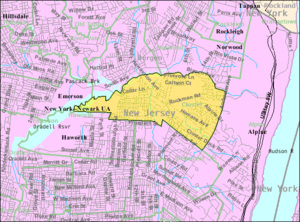 Closter, New Jersey - Image: Census Bureau map of Closter, New Jersey
