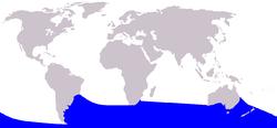 .::Zifio de Arnoux o Delfín Picudo de Arnoux 250px-Cetacea_range_map_Arnoux_27s_Beaked_Whale