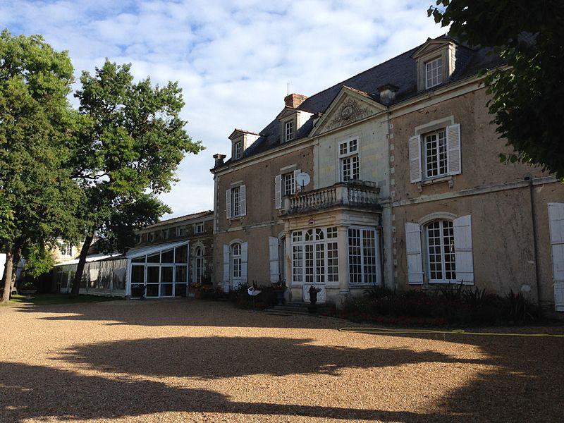 Château de la Romanerie à Saint-Barthélemy-d'Anjou (Maine-et-Loire, France). Édifice inscrit aux Monuments historiques français.
