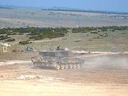 Challenger 2 MBT on Sailsbury Plain