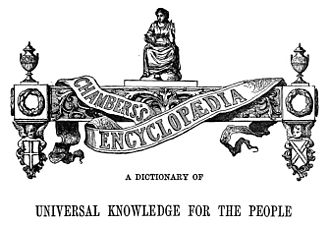 Chambers's Encyclopaedia - The design and wording that appeared at the start of each volume of the first edition.