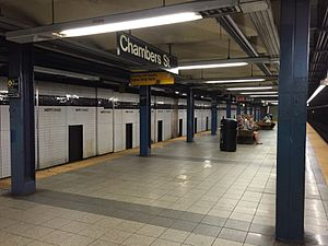 Chambers Street–World Trade Center/Park Place (New York City Subway) - Express platform (Chambers Street)