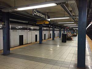 Chambers Street–World Trade Center/Park Place (New York City Subway) - Express platform (Chambers Street)