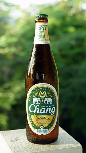 ThaiBev - A bottle of Chang beer.