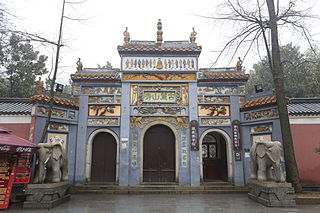 Lushan Temple building in Lushan Temple, China