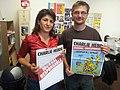 Charb and Arzu Çakır in 2012.jpg