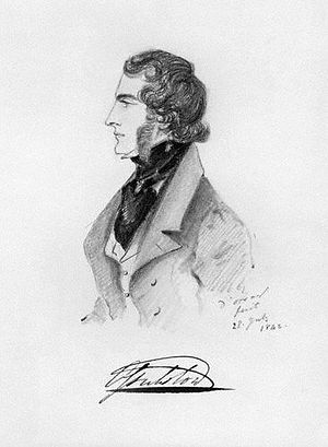 Charles Bennet, 6th Earl of Tankerville - A portrait of Bennet by Alfred d'Orsay.