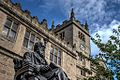 Charles Darwin statue at Shrewsbury Library.jpg