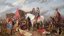 Charles Landseer: Cromwell in the Battle of Naseby in 1645