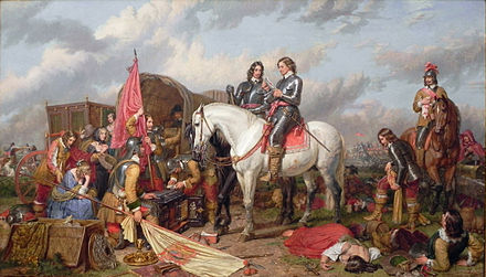 Cromwell in the Battle of Naseby in 1645. Charles Landseer. Charles Landseer Cromwell Battle of Naseby.JPG