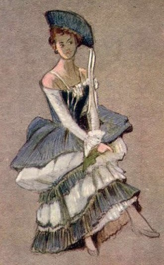 Costume design - Costume design for Gianetta - The Gondoliers