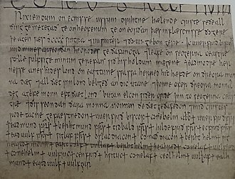 Werferth - Charter S 1281 dated 904, grant of Bishop Werferth to his reeve, Wulfsige