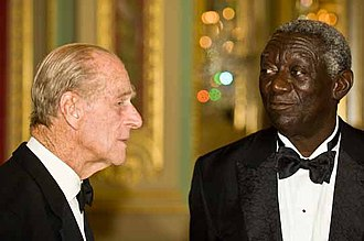 Foreign relations of Ghana - Husband of the Head of the Commonwealth and former Queen of Ghana, Elizabeth II; Prince Philip, meeting with the recipient of the 2008 Chatham House Prize and 10th President of Ghana John Kufuor