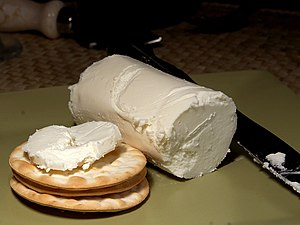 English: Goat's milk cheese