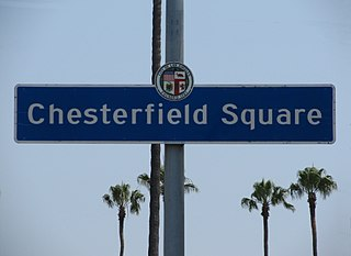 Chesterfield Square, Los Angeles Neighborhood of Los Angeles in California, United States
