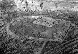 Chetro Ketl - Aerial view from the south