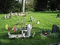 Children's graves, Warwick old cemetery - geograph.org.uk - 2550514.jpg