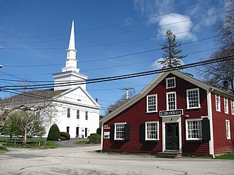 Chiltonville, Massachusetts - Chiltonville Congregational Church and Bramhall's Country Store