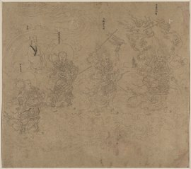 Album of Daoist and Buddhist Themes: Procession of Daoist Deities: Leaf 11