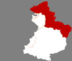 Location of the county within Yingkou