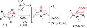 Carbanion - stereochemistry of organolithiums
