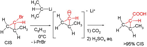 stereochemistry of organolithiums