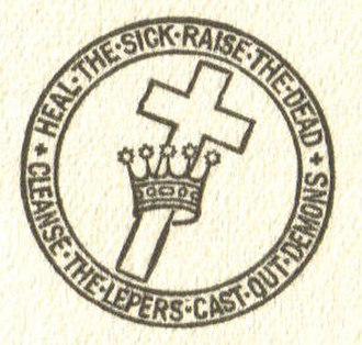 Christian Science - Christian Science seal, with the Cross and Crown and words from Matthew 10:8