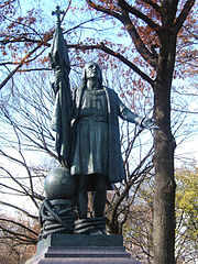 Bronze statue of Christopher Columbus at the base of the Mall, by Jeronimo Suñol, 1894