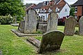 Church of St Andrew's, Boreham, Essex - churchyard graves at south.jpg