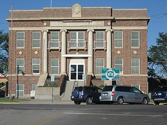 Boise City, Oklahoma - Image: Cimarron County Oklahoma Courthouse September 23 2011