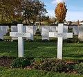 Cimetière militaire britannique de Ranville - Tombes de Jean-Claude Diamant-Berger et Pierre Vinat.jpg