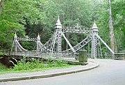 "Mill Creek Park's ""Cinderella"" iron link bridge"