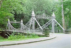 "Mill Creek Park's ""Cinderella"" iron link bridge"