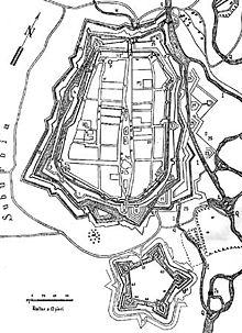 Košická citadela popri mestskom bastiónovom opevnení [85]