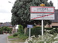 City limit sign Lavesne (2 municipalities) (02).JPG