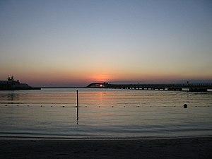Zacatal Bridge - Sunset from Ciudad del Carmen, 27 December 2006