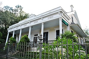 Antoine James de Marigny - Claiborne Cottage in New Orleans' Garden District was built in 1857 by John Vittie for Sophronie Claiborne Marigny, daughter of Louisiana's first Governor, Lady of French Queen Amelie's court.