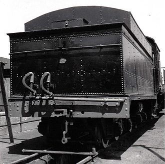 South African type MP1 tender - Number plate on tender no. 805