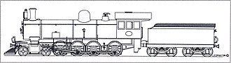 South African Class 8R 4-8-0 - Drawing of Class 8R no. 883