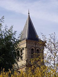 The bell tower of the church of Venelles