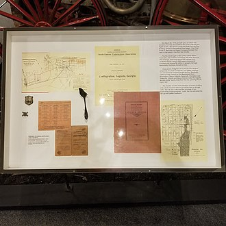 Augusta fire of 1916 - Image: Close up of Display Board