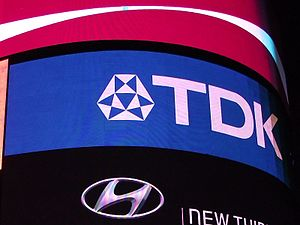 TDK - The TDK sign at Piccadilly Circus in London.