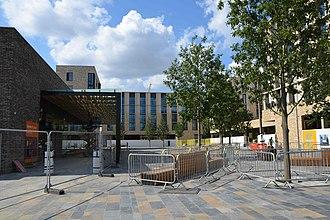 North West Cambridge development - Image: Cmglee Eddington main square