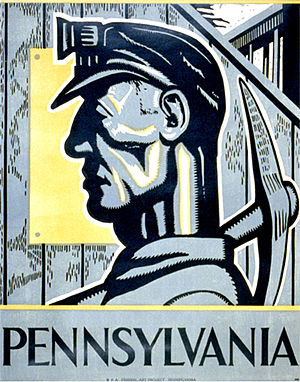 United Mine Workers - WPA poster
