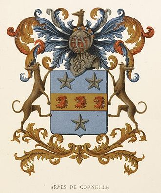 Pierre Corneille - Coat of arms of the Corneille family, dating back to 1637