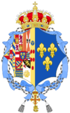 Coat of arms of Princess Anne, Duchess of Calabria (Spanish Heraldry).png