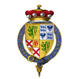 Edward Sutton, 2nd Baron Dudley - Arms of Sir Edward Sutton, 2nd Baron Dudley, KG
