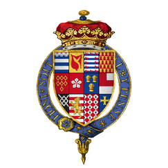 Coat of arms of Sir Henry Grey, 1st Duke of Suffolk, KG.png