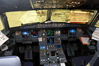 Cockpit of Airbus A320-211 Air France (F-GFKH)