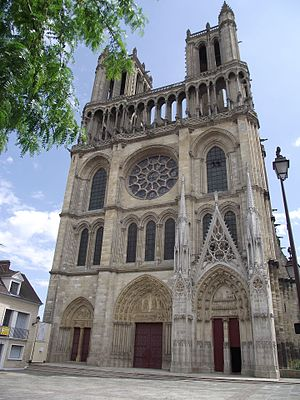 Notre Dame de Mantes - The west facade of the Collegiate Church of Our Lady of Mantes